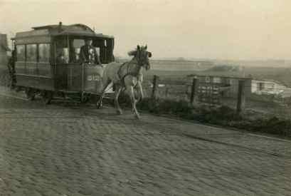 Paardentram 512 naar Overschie, Schansweg, 1925